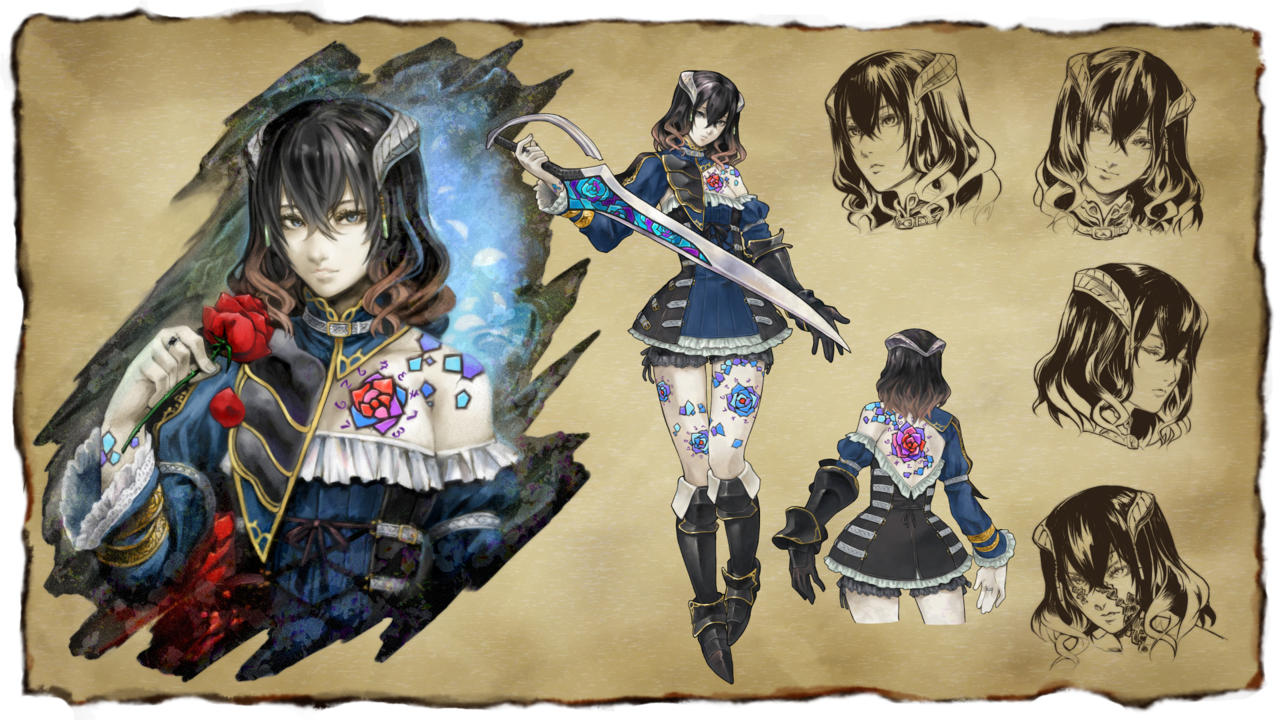 Miriam, the protagonist in Bloodstained: Ritual of the Night