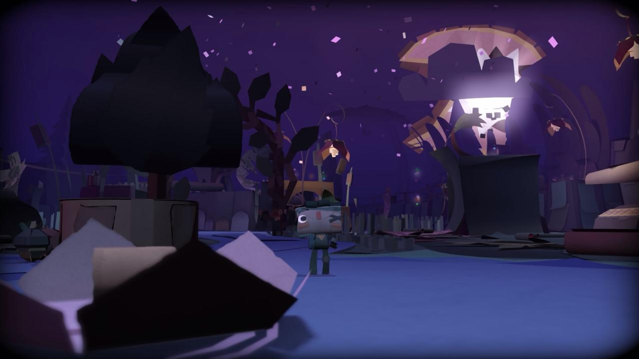 From any angle, Tearaway's crinkled and folded environments are striking.