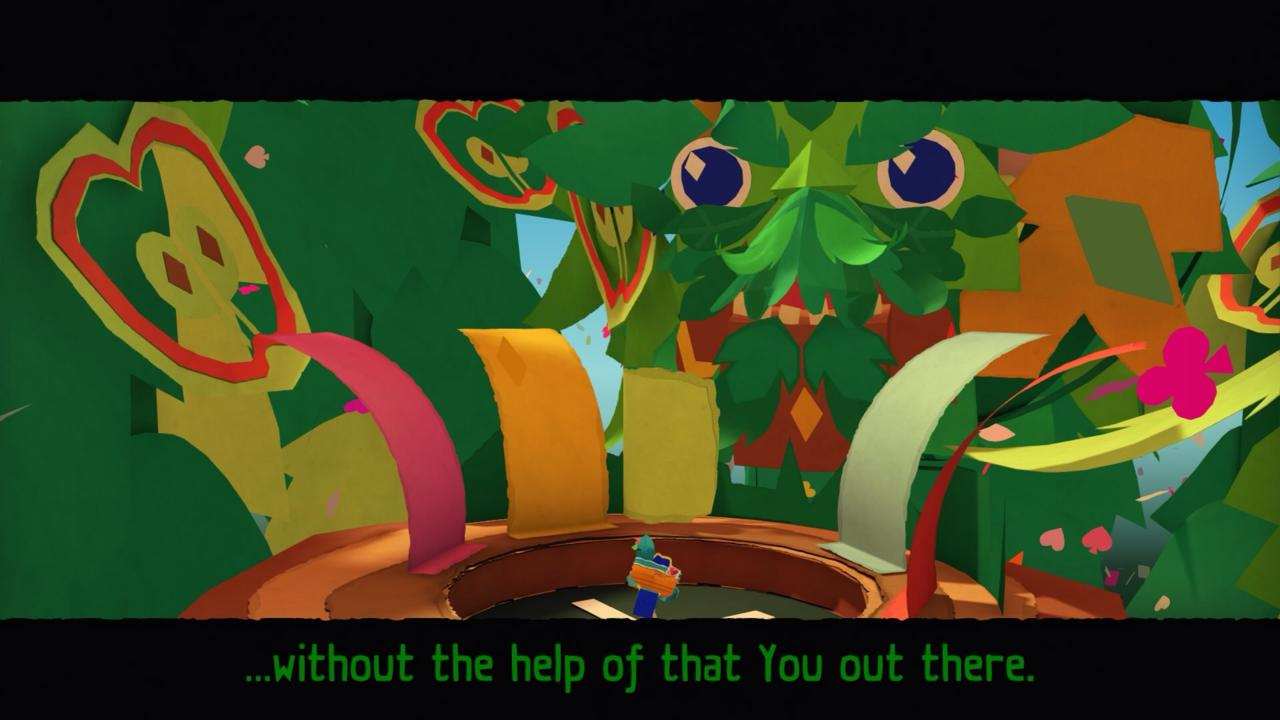 Tearaway breaks the fourth wall on a regular basis.