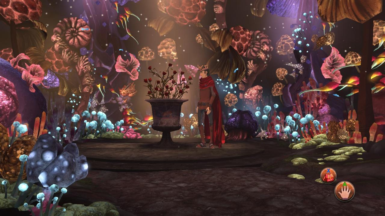 Even though Rubble Without A Cause features some colorful, old-time fantasy scenes that perfectly fits the fluffy, G-rated King's Quest style, much of the game consists of dreary caverns in a goblin lair.