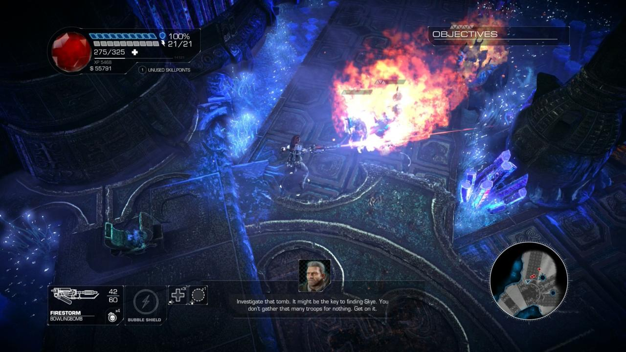 The flamethrower is one of Bombshell's few bright spots.