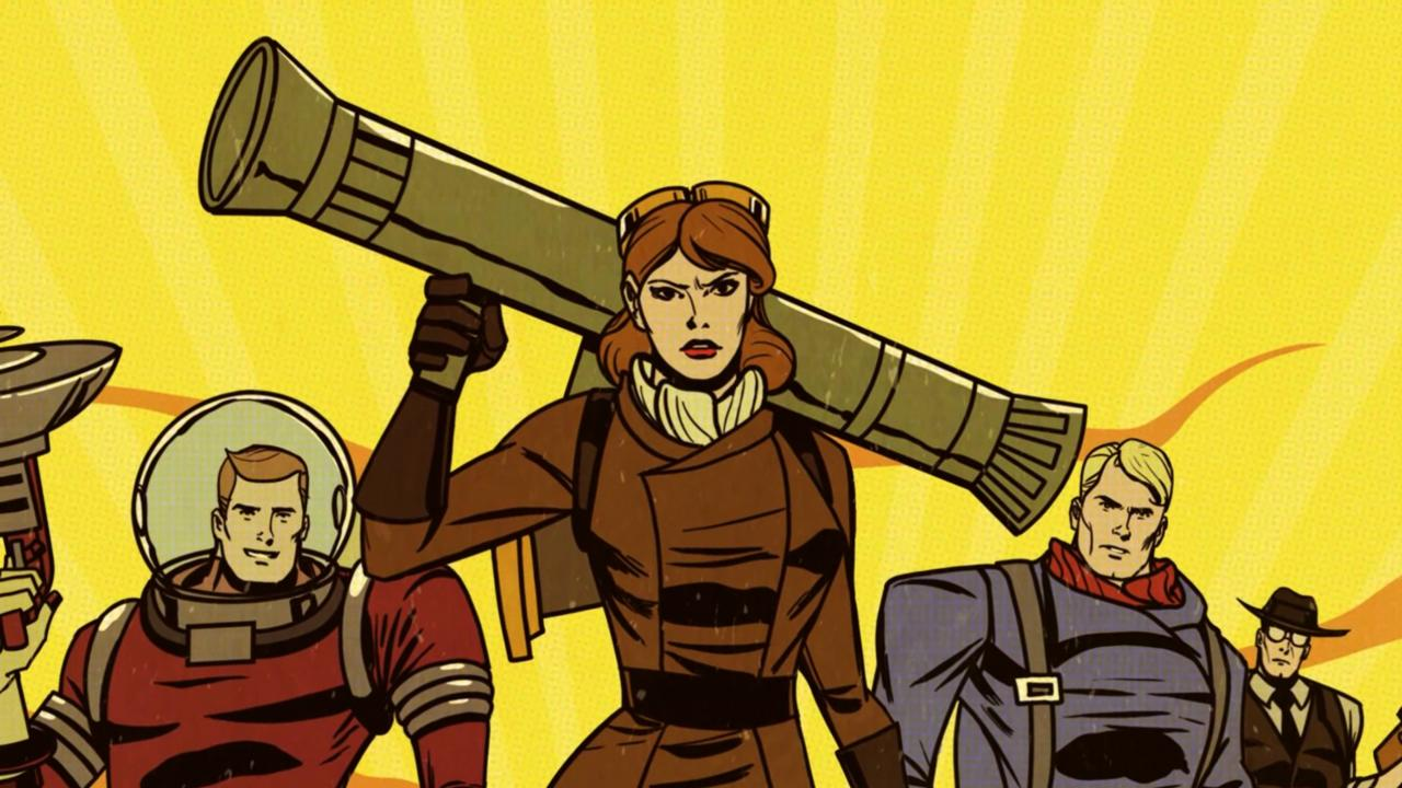 Fortified's art design is straight out of early Silver Age Marvel Comics.