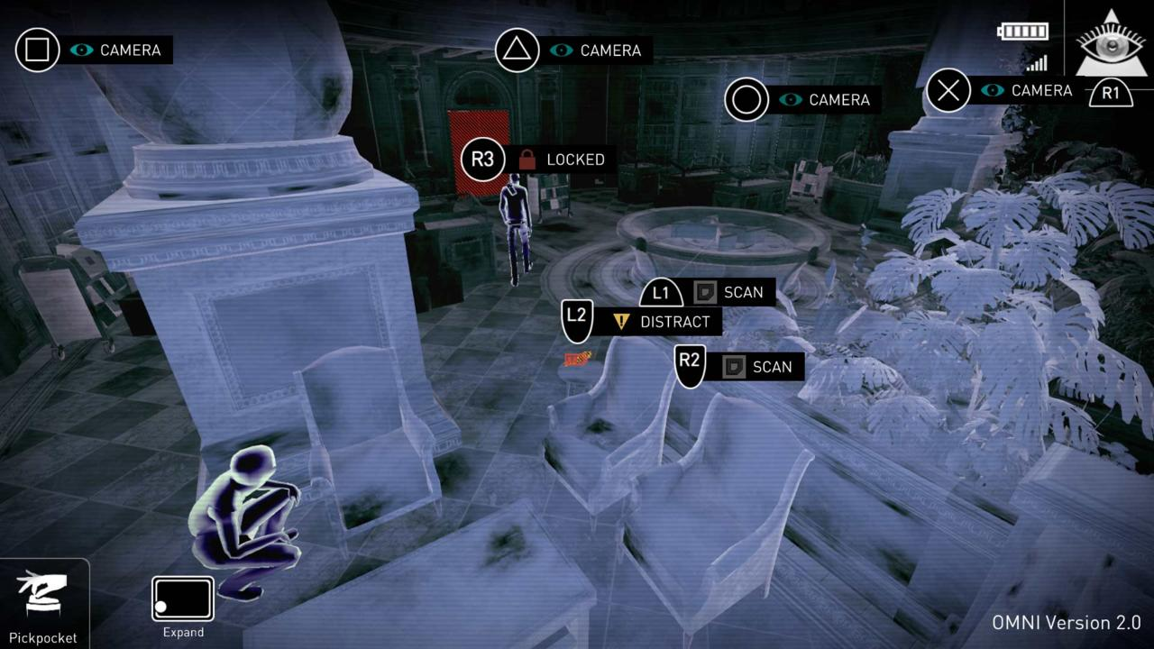 An example of Republique's new interface on PS4.