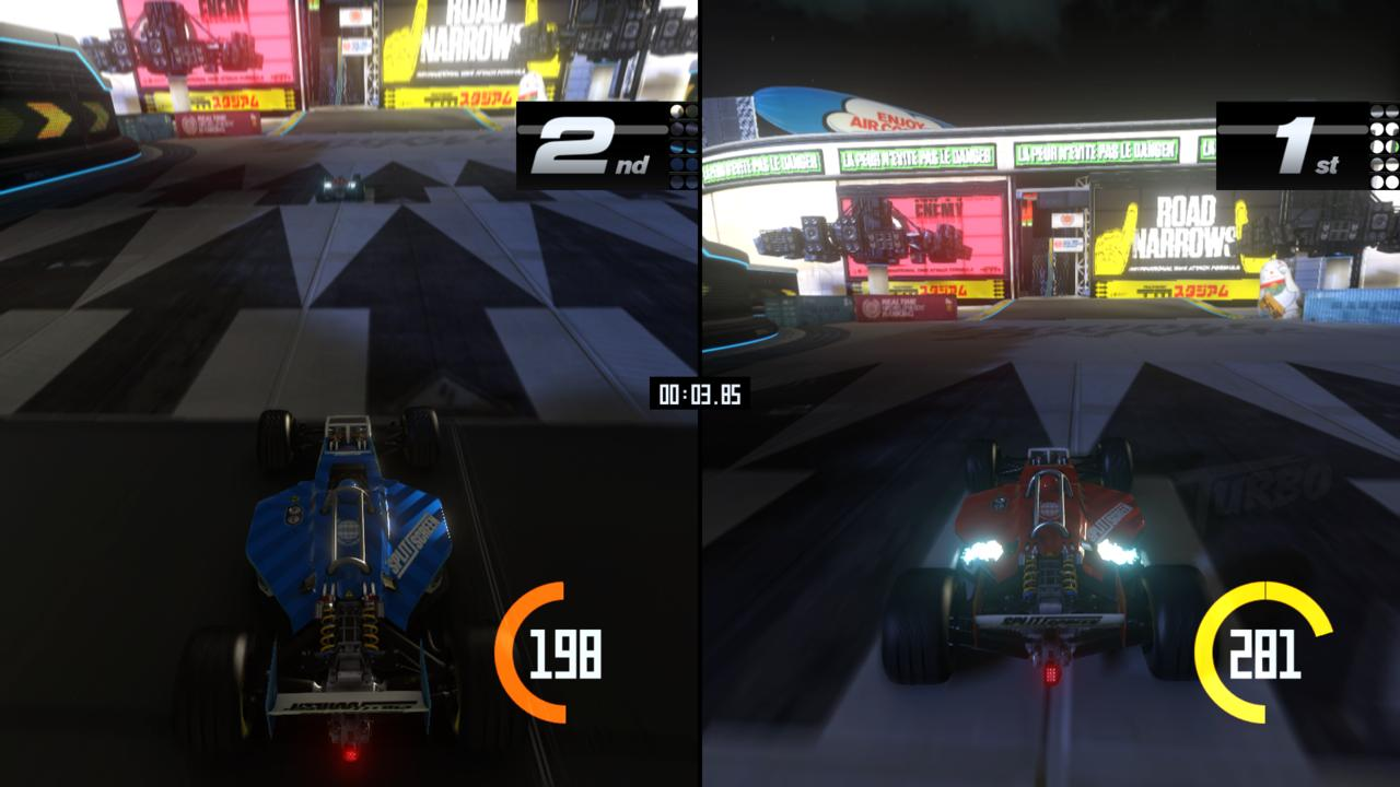 Split-screen multiplayer is a big part of Trackmania Turbo