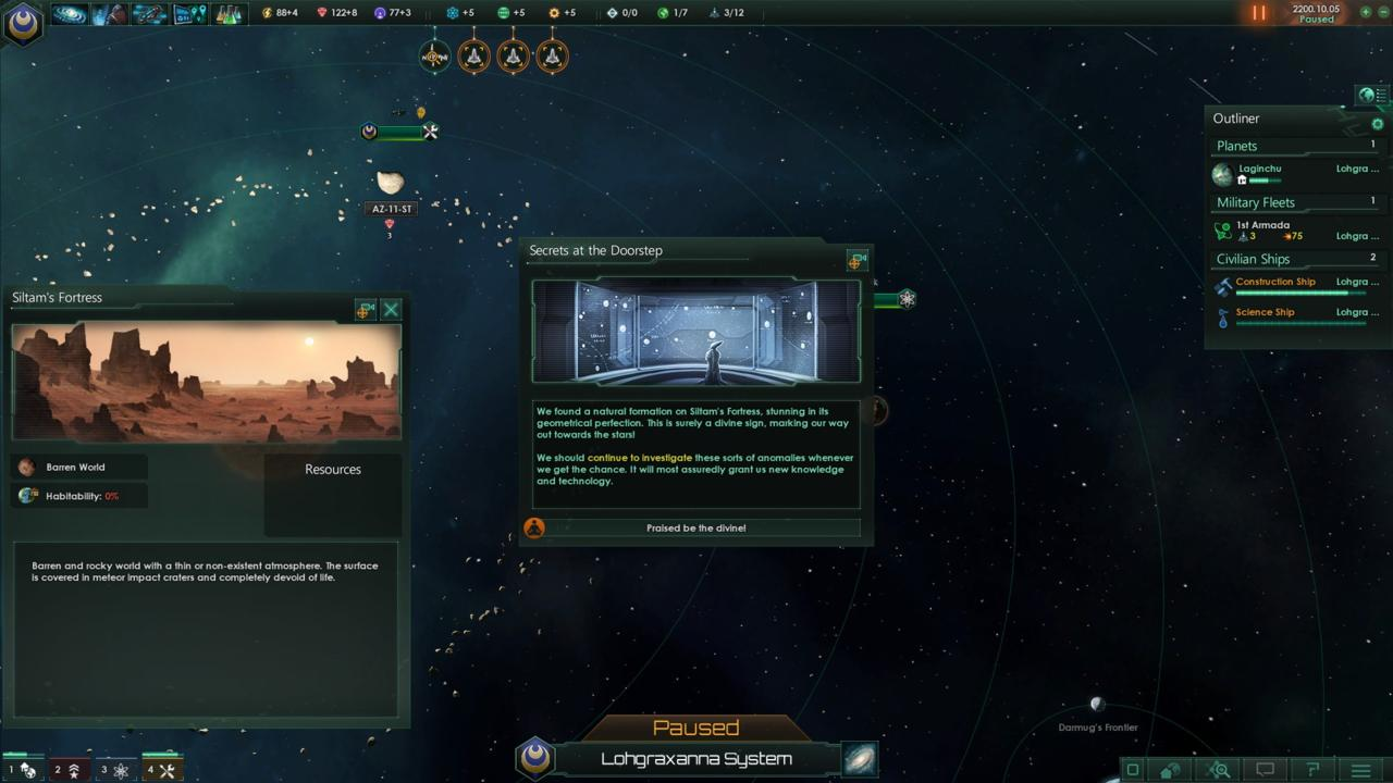 Stellaris is filled with intrigue and promise.