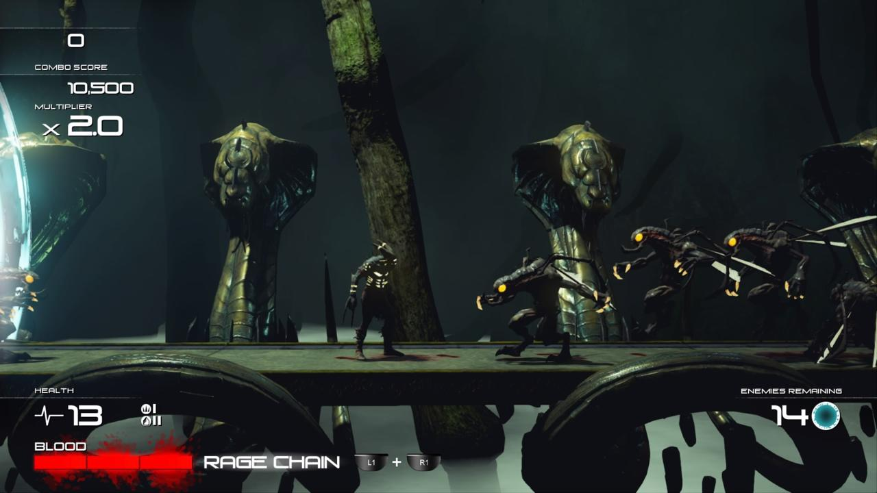 Shadow of the Beast's levels are structured around clunky combat encounters.