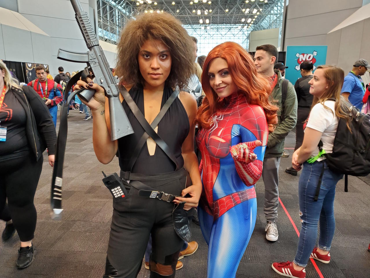 Domino and Mary Jane as Spider-Woman