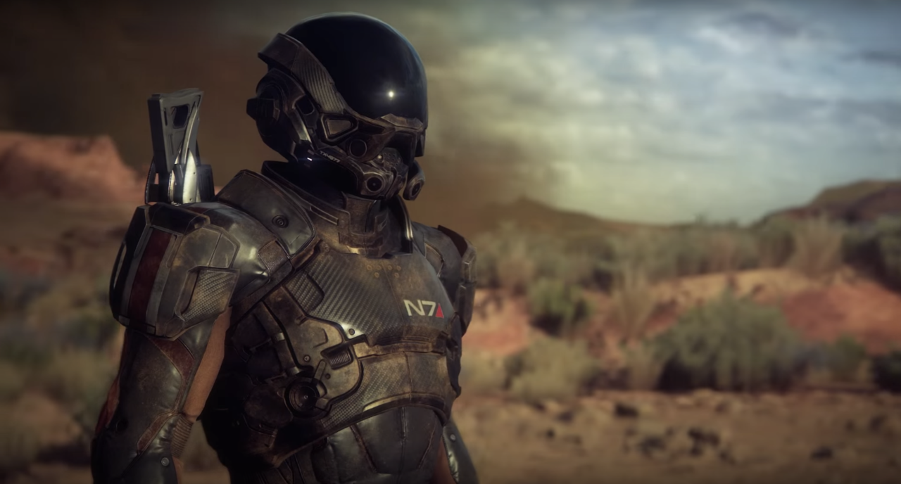 An N7 Soldier Surveying the Planet