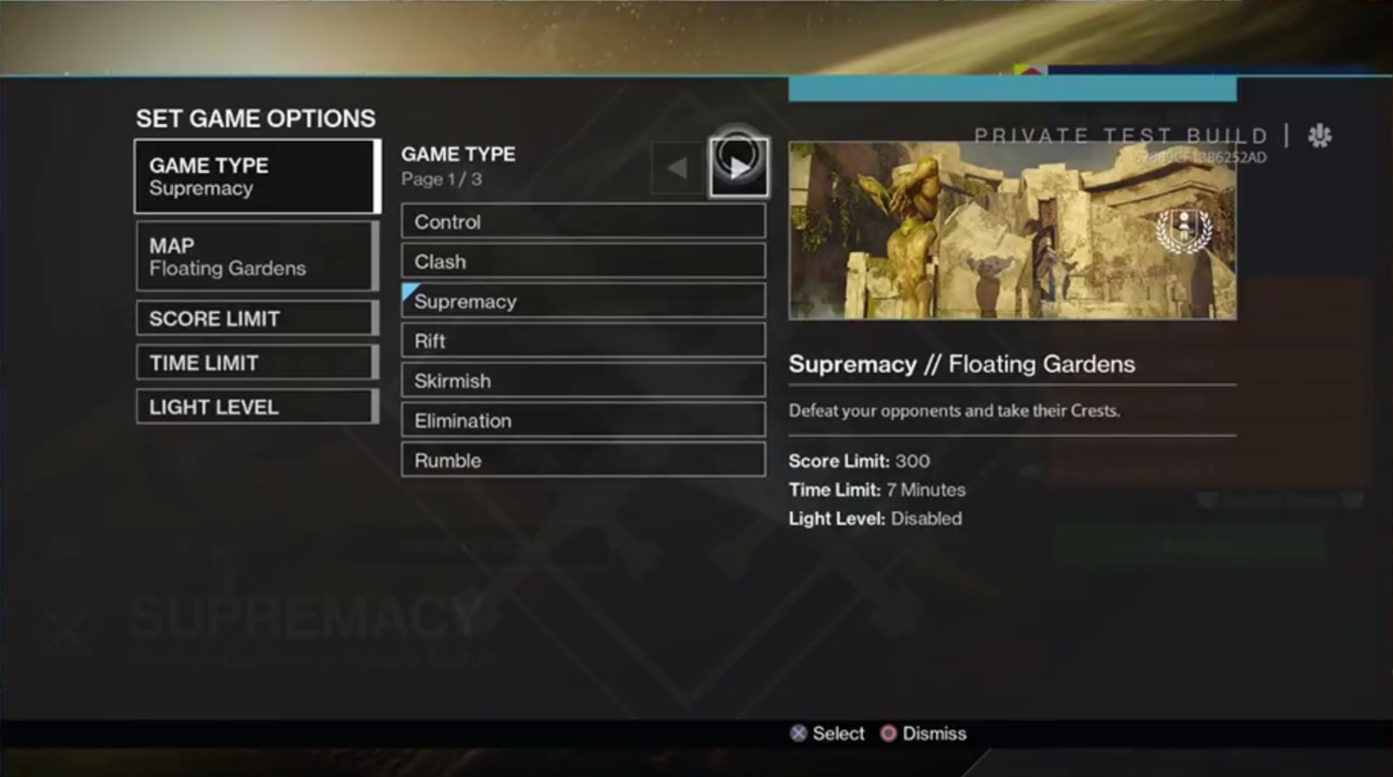 A look at the private match interface.
