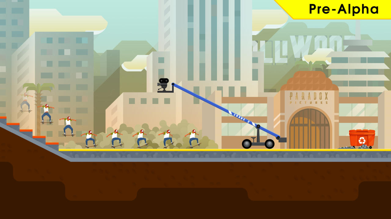 OlliOlli2 is set in a fictional district called Olliwood