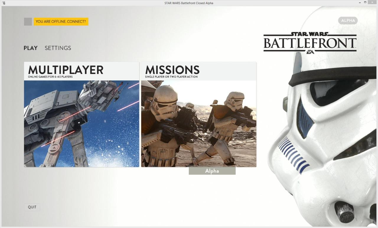 The first screen-grab of the Battlefront Alpha, which is expected to launch in key territories on Thursday