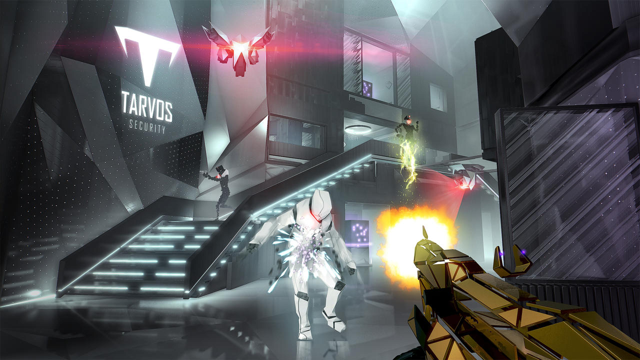 Breach mode is a deliberate visual departure from the main Deus Ex campaign mode