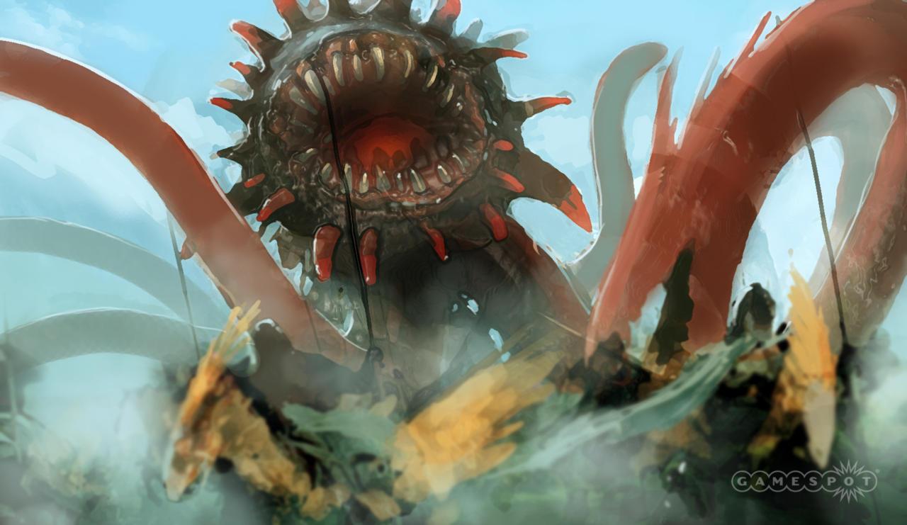 Concept art of the Malboro boss fight.