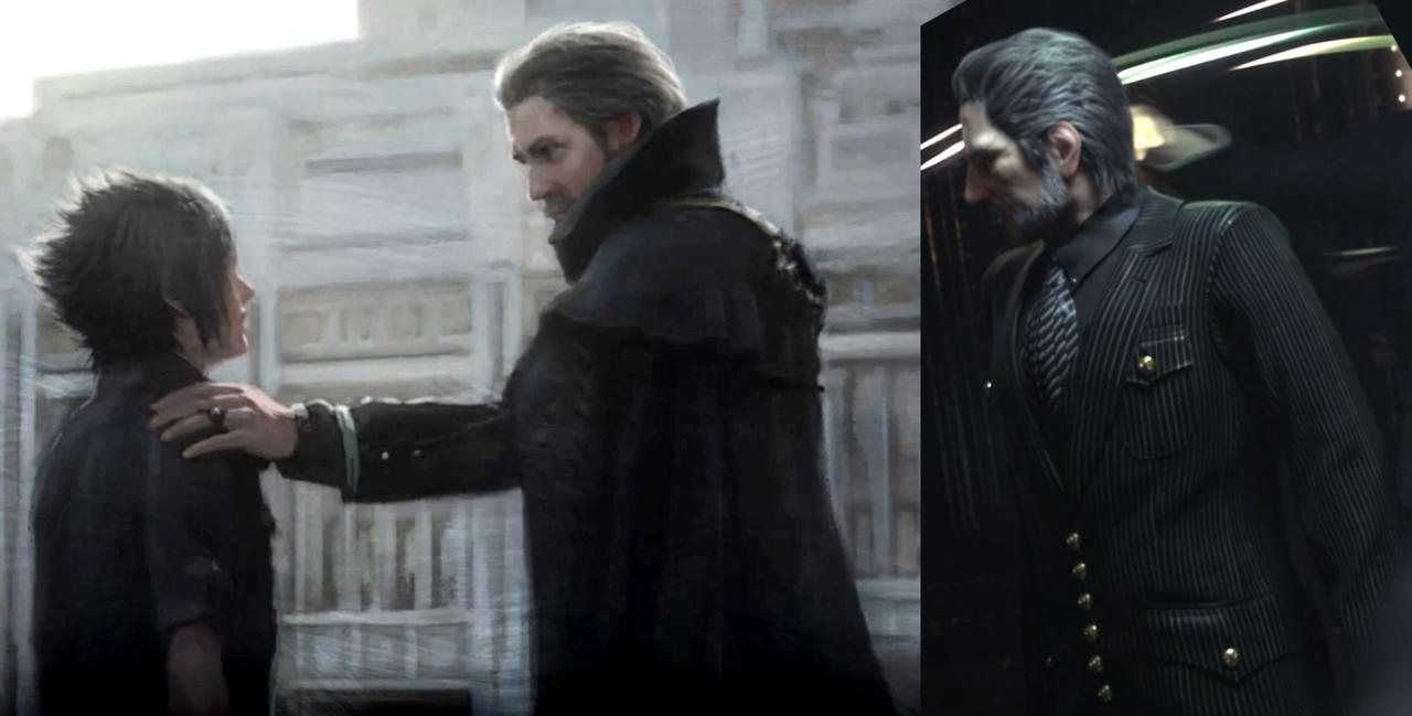 Left: Regis now. Right: Regis in Versus XIII.