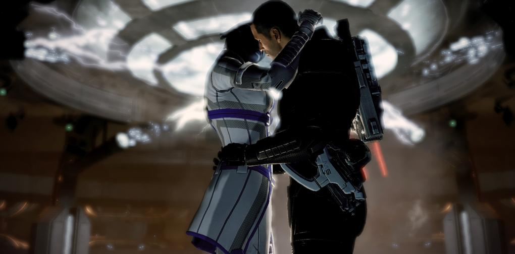 3. Shepard & Liara, Mass Effect