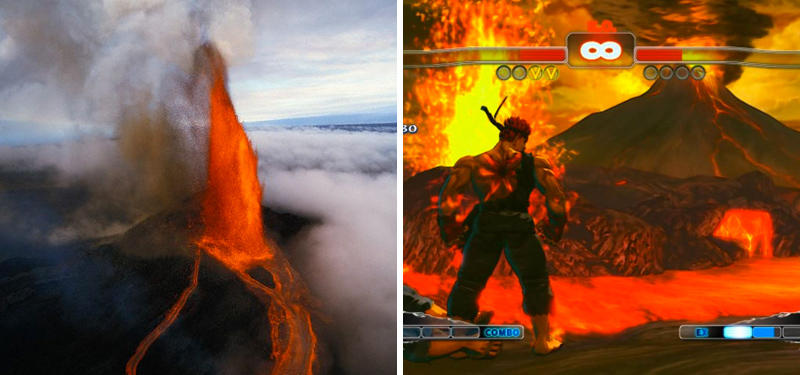 11. Volcanic Rim Stage in Street Fighter IV