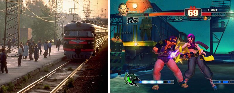 15. Snowy Rail Yard Stage in Street Fighter IV