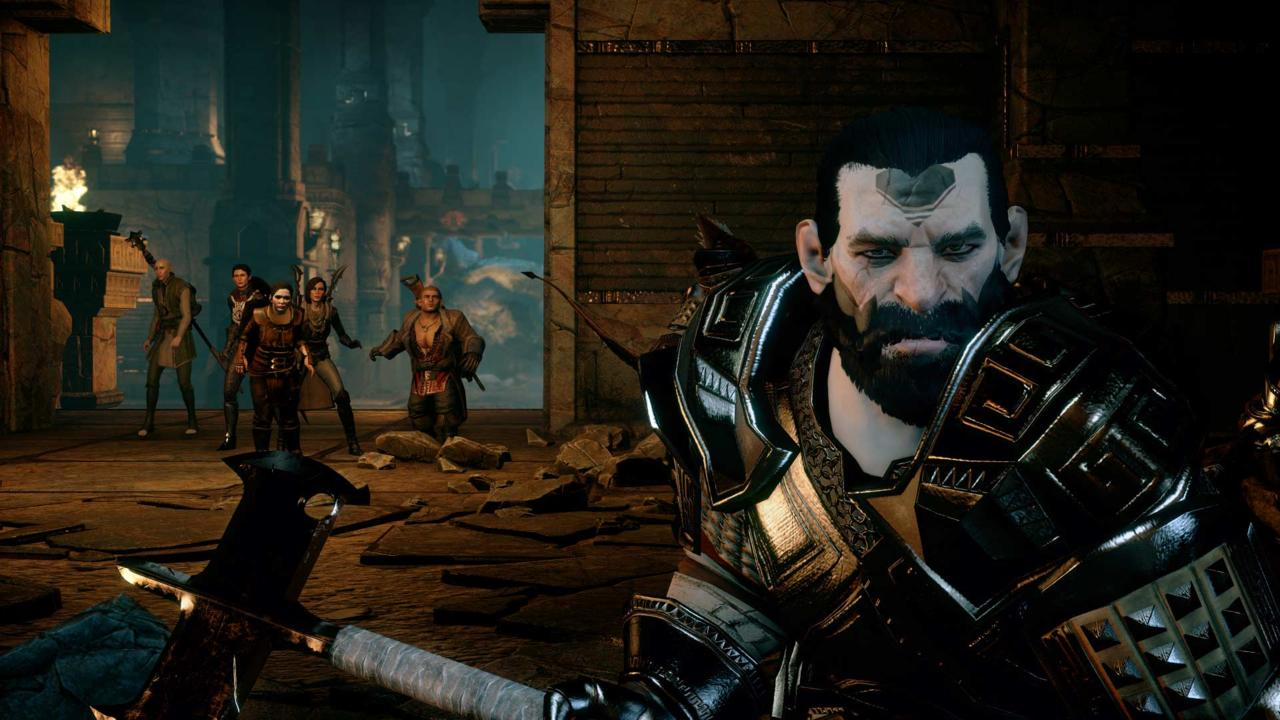Renn is one of a pair of dwarves who join the Inquisitor on his new DLC adventure. Interesting looking guy, but he's not much of a conversationalist.