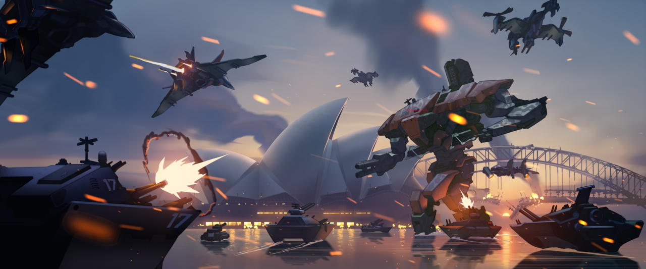 The Omnic Crisis ravaged cities across the world.