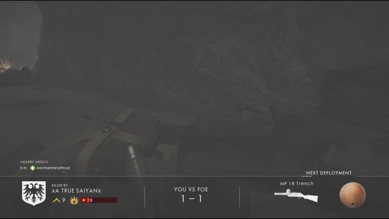 Look Out for Medics in the Death Screen