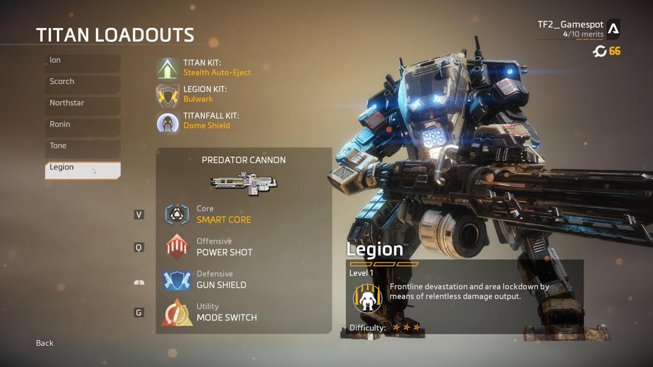 Legion's Loadout