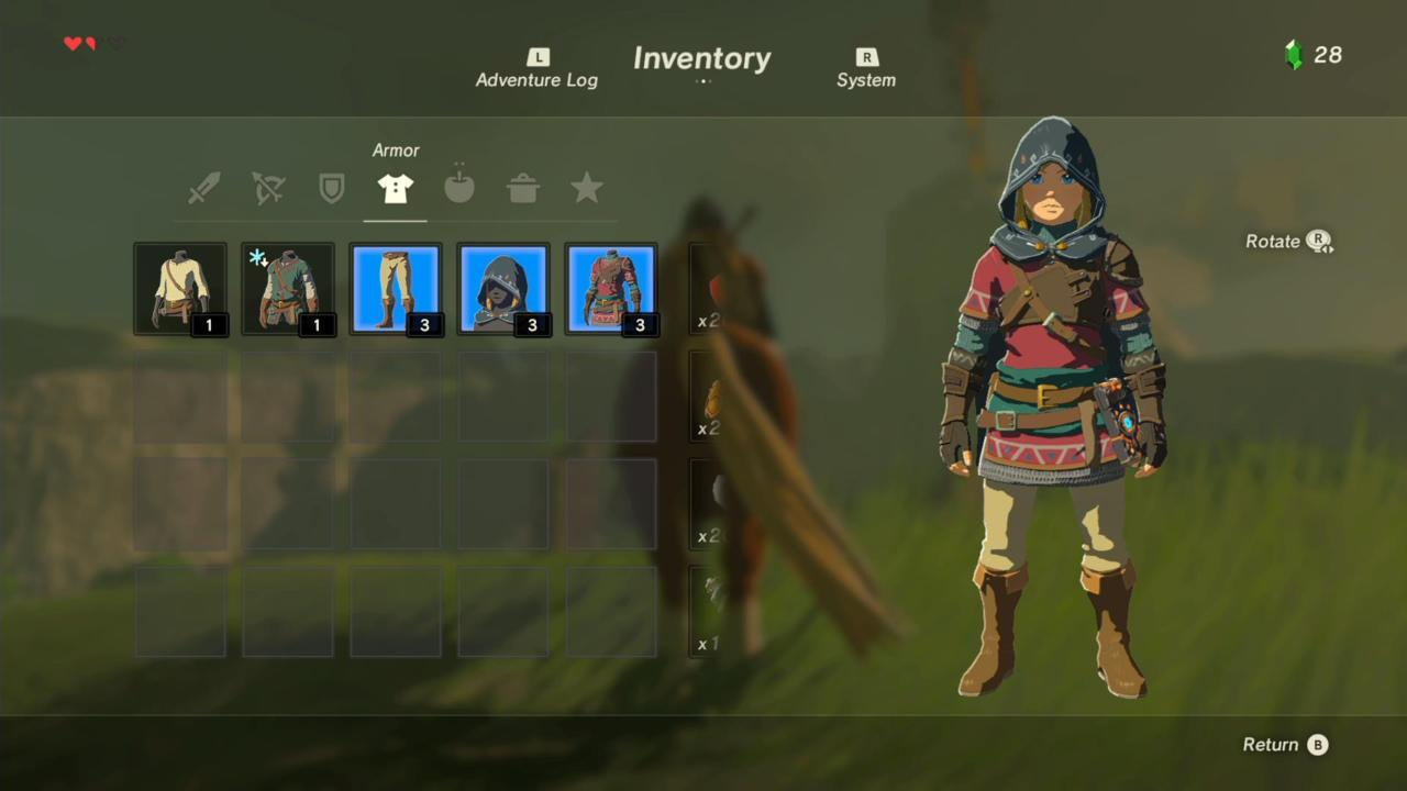 Hylian Hood, Tunic, and Trousers (Front)