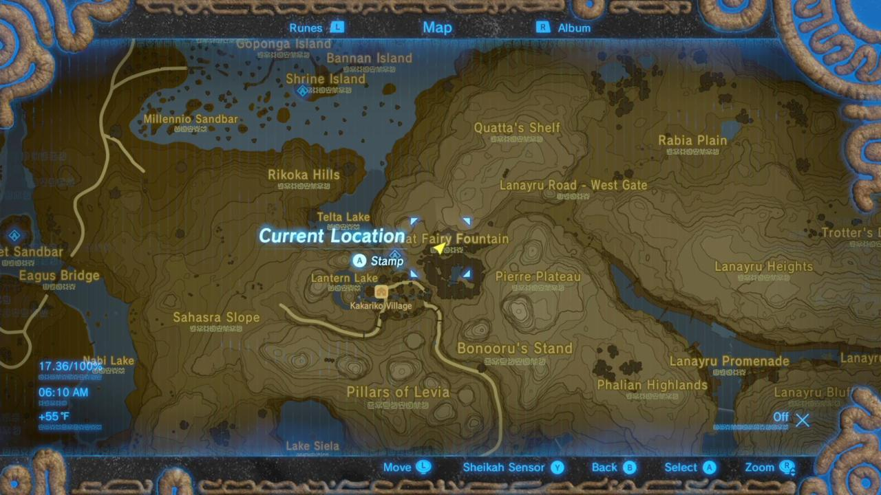 Where Is Cotera's Great Fairy Fountain On The Map?