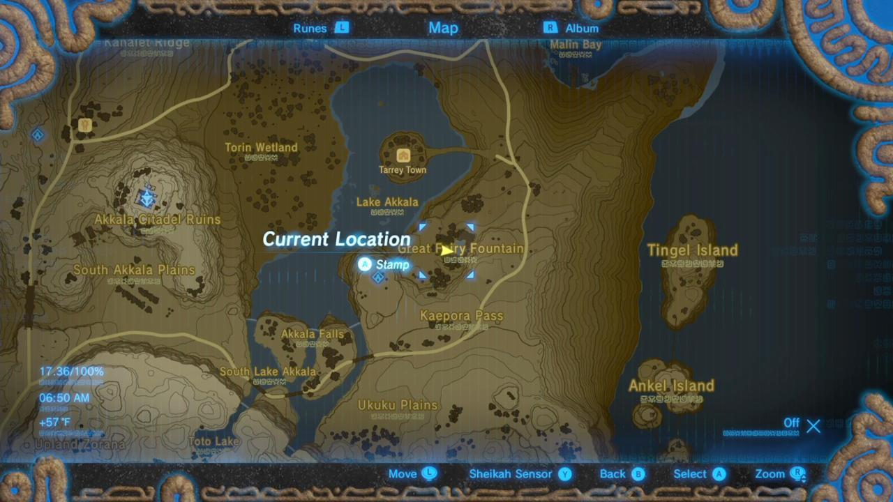 Where Is Mija's Great Fairy Fountain On The Map?
