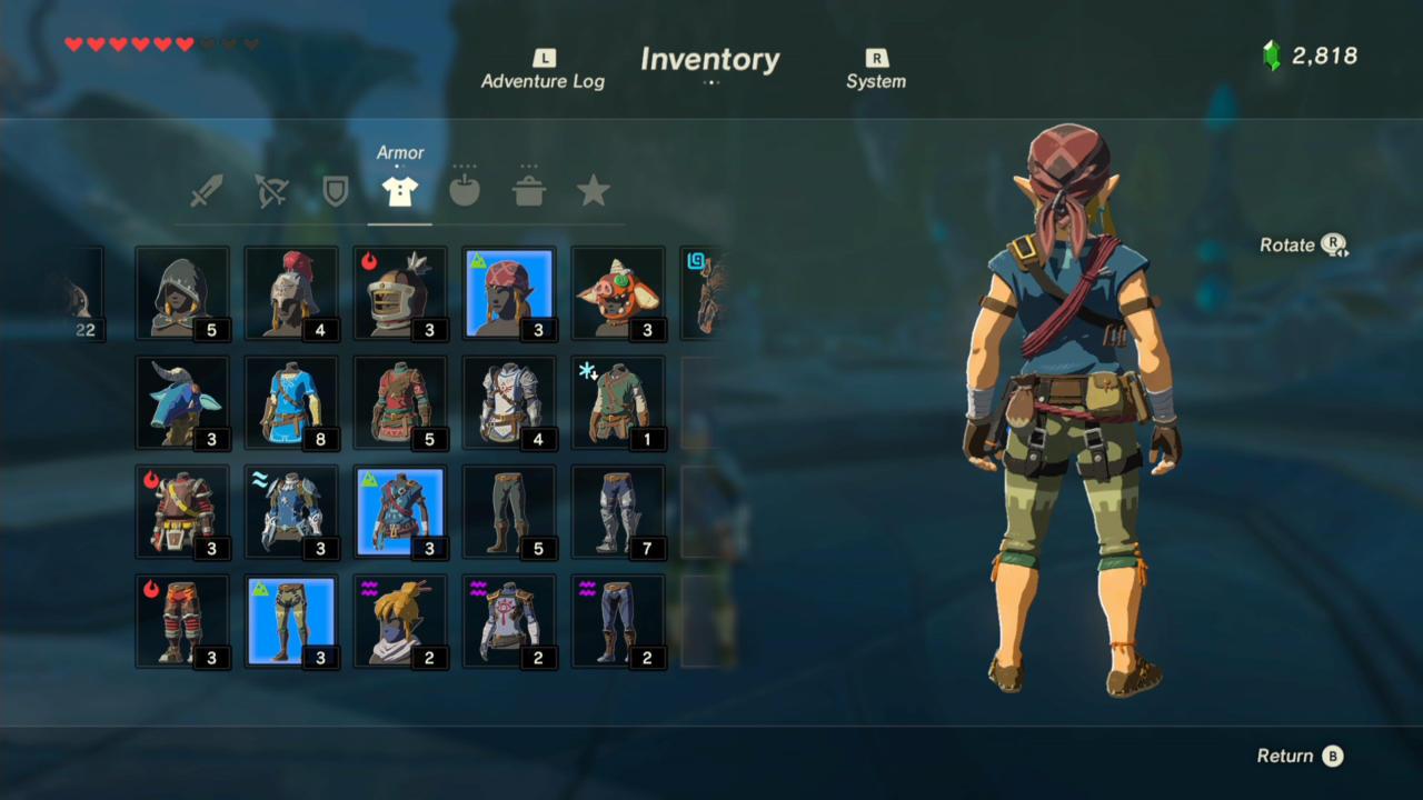 Climber Bandana, Gear, and Boots (Rear)