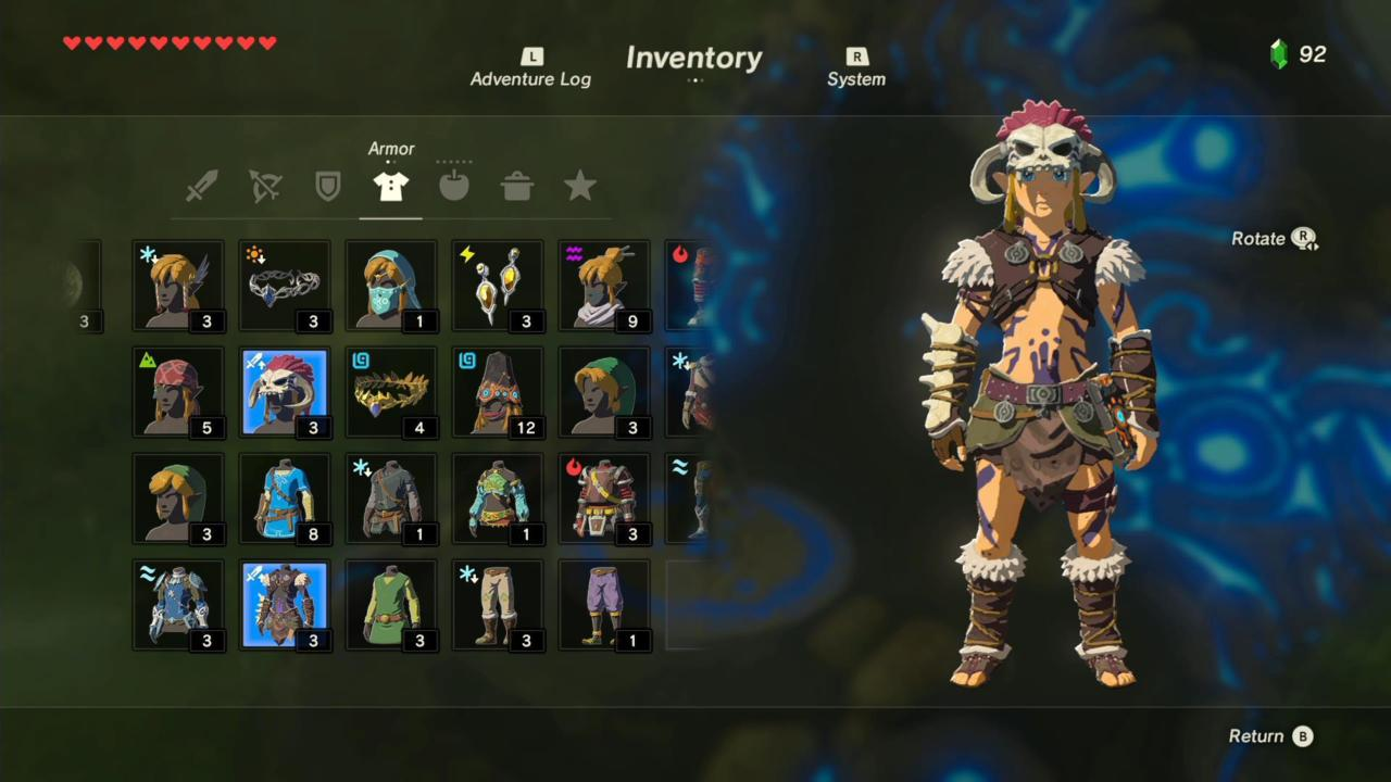 Barbarian Helm, Armor, and Leg Wraps (Front)