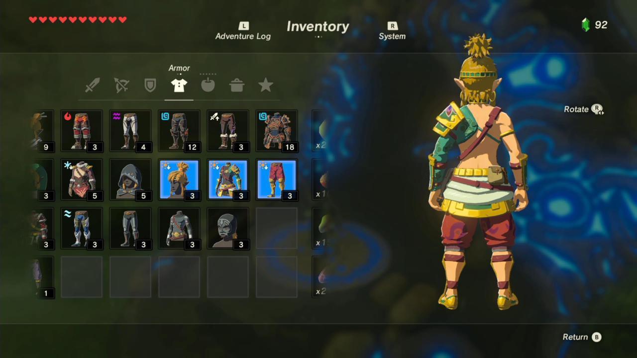 Desert Voe Headband, Spaulder, and Trousers (Rear)