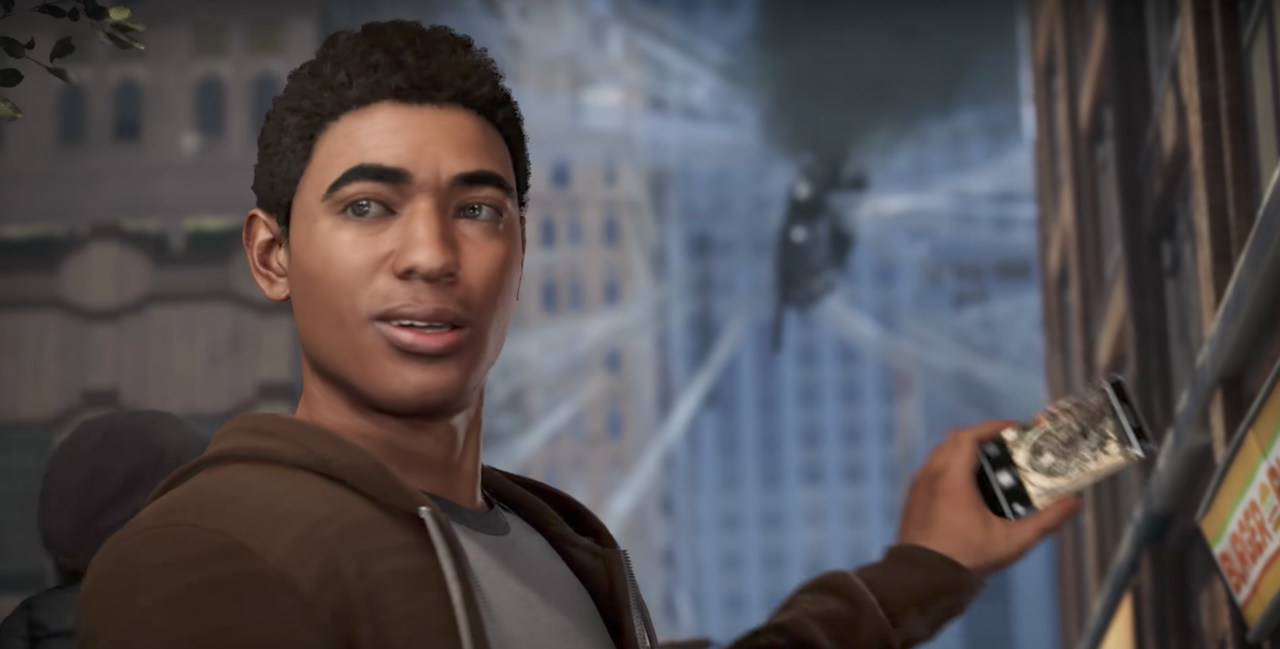 Miles Morales appears at the end of the Spider-Man E3 2017 demo.