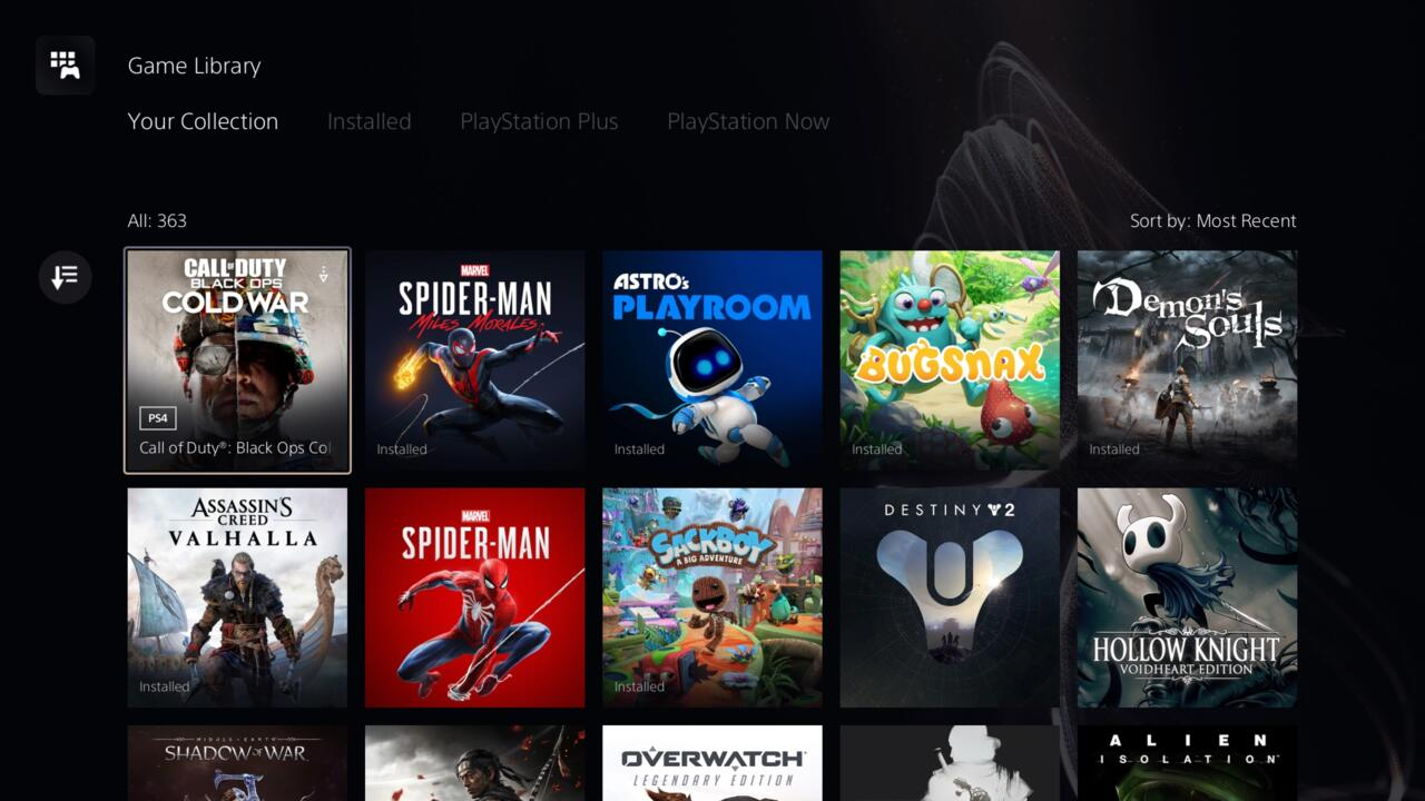 For some reason, the PS5 library menu defaults icons for cross-gen games to the PS4 versions.
