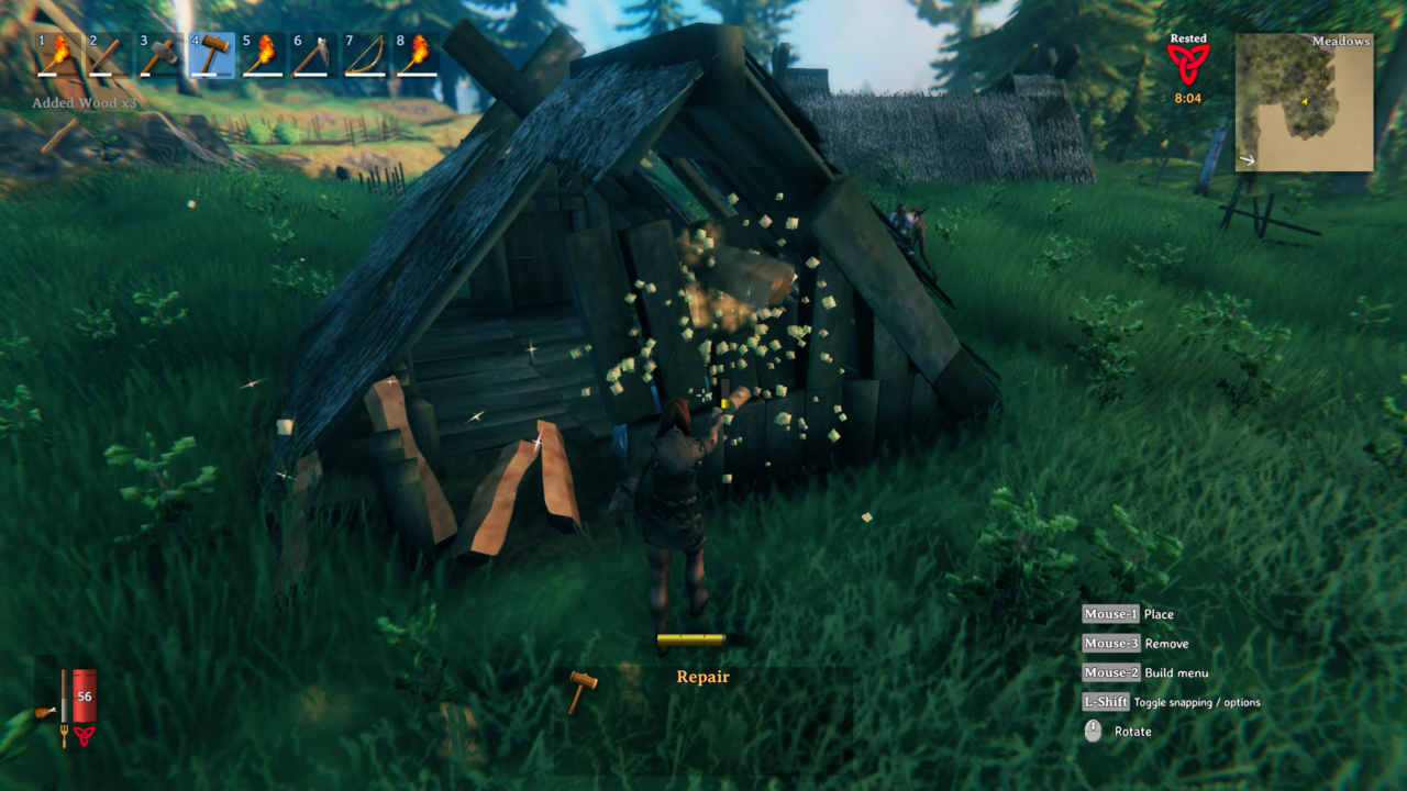 If you find other Abandoned Houses in the wild, be sure to break them down for plenty of wood.