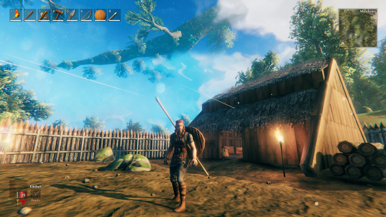 You'll be spending a lot of time building up your house in Valheim.