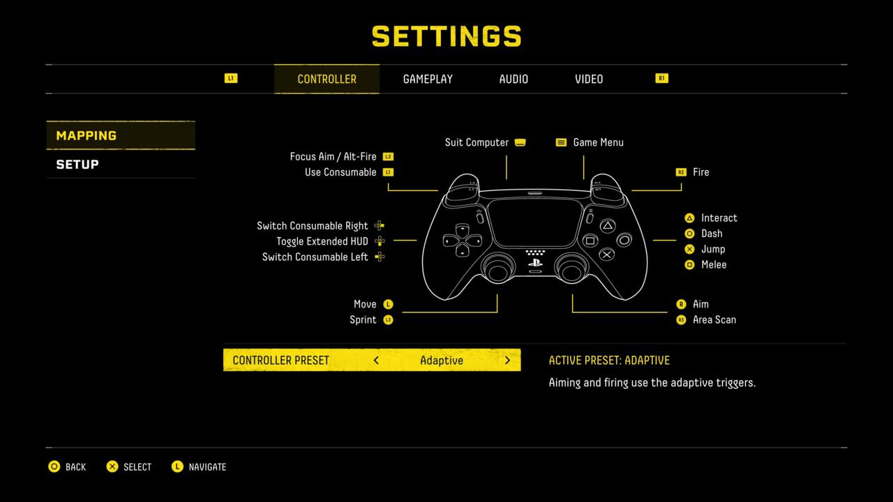 Returnal does let you switch to a more traditional controller setup in the options screen.