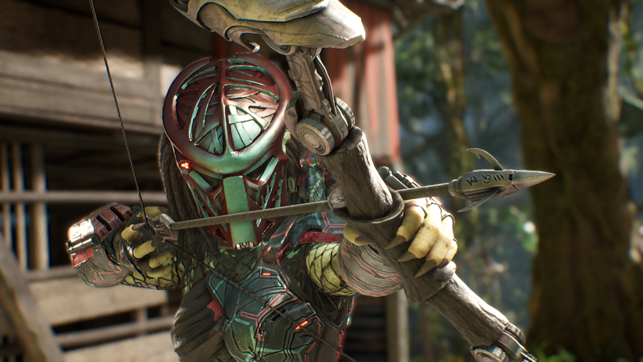 The female Predator comes armed with the devastating Yautja Bow.