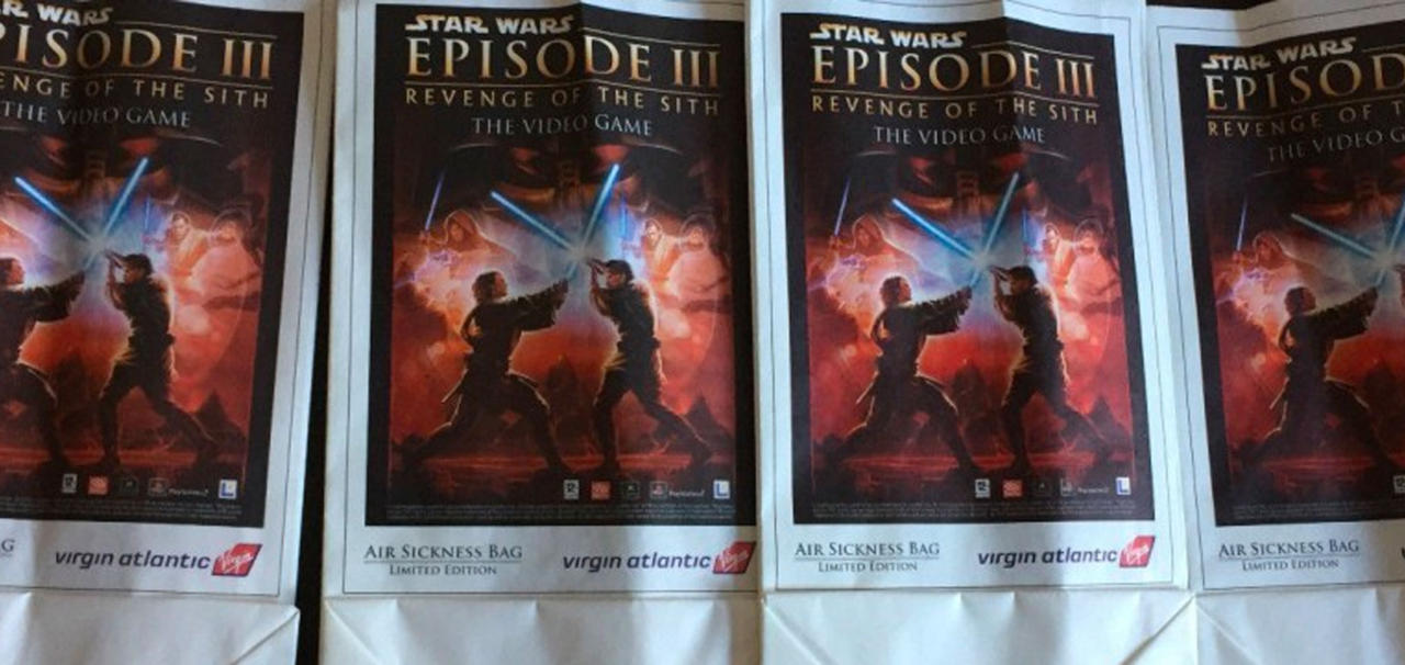 Revenge Of The Sith Air Sickness Bag