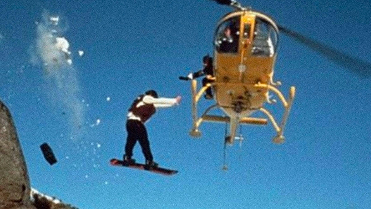 11. Police Story 4: First Strike (1996) - Snowboard Jump
