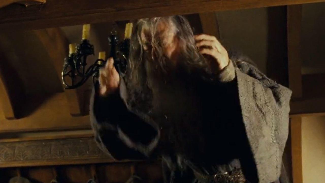 7. Gandalf's accidental head bump