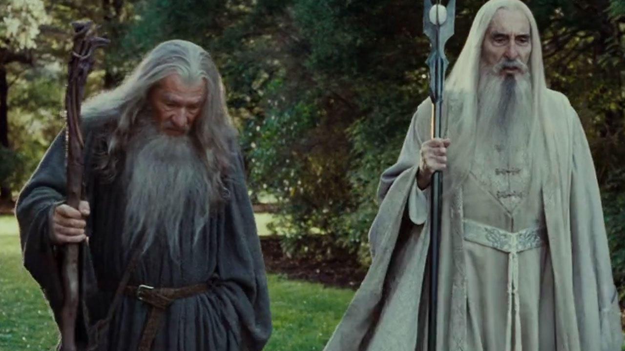 14. Saruman and Gandalf's scene was filmed twice