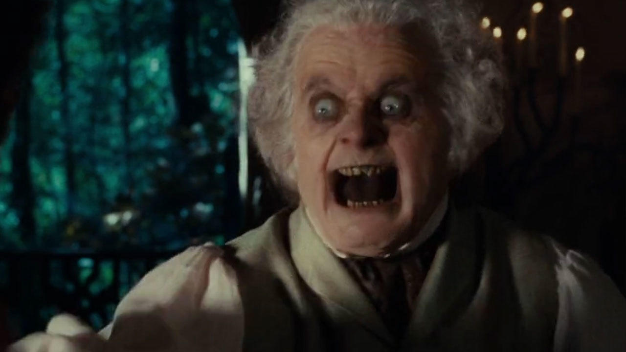 25. Bilbo's terrifying Ring-face was a puppet