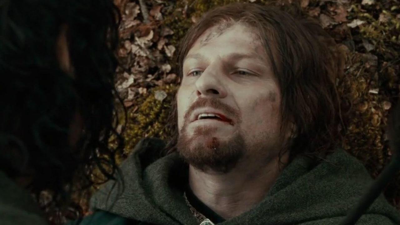 37. Boromir's face changes color when he dies