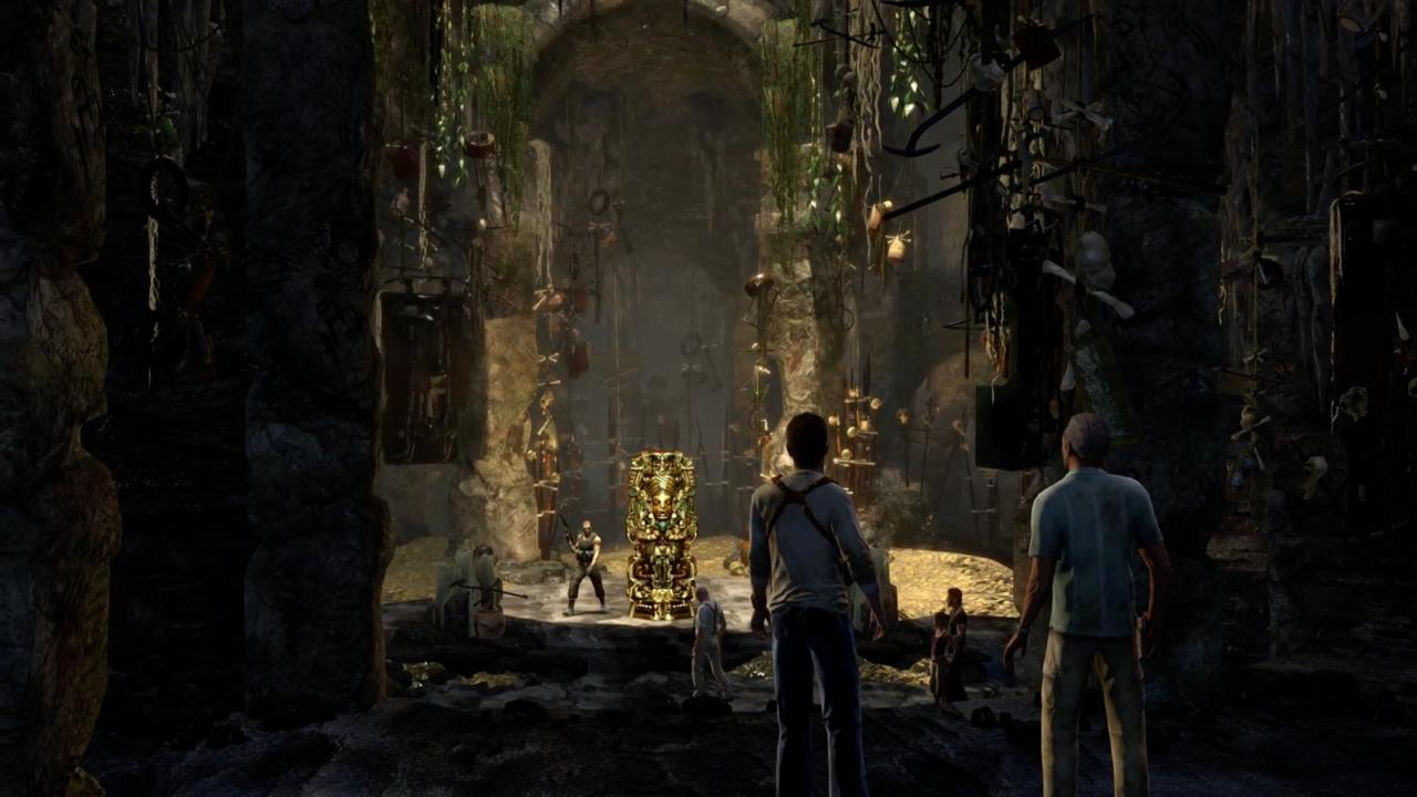 Uncharted: Drake's Fortune's story takes a sharp turn in this cavern.
