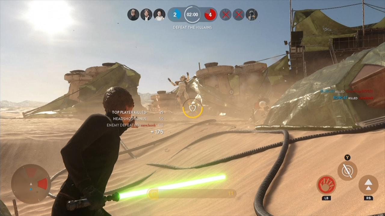 Luke's force push is best used against groups.