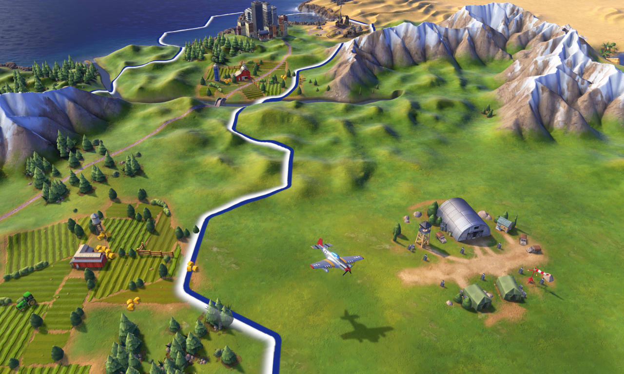 An evolving city in the Roosevelt's American countryside.