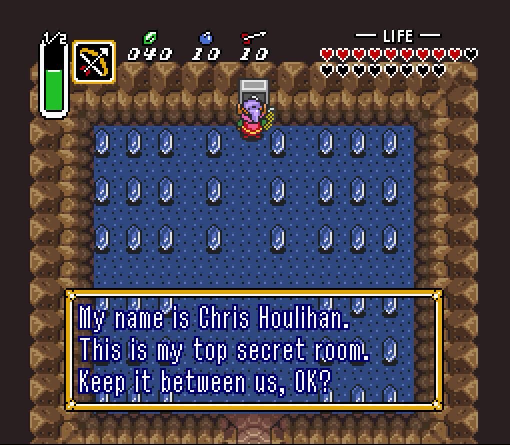 A Link to the Past has a super secret bonus room.