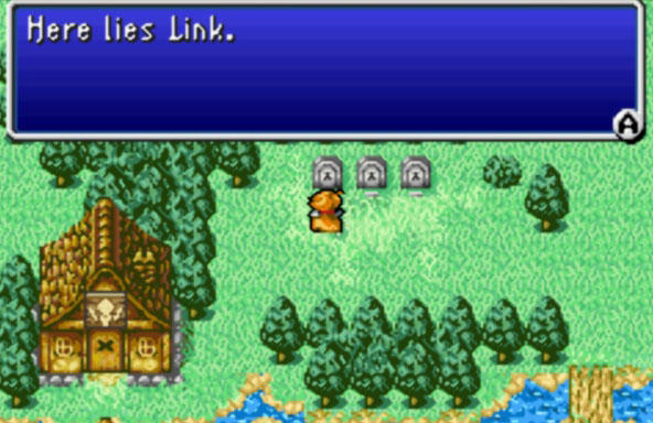You can visit Link's grave in Final Fantasy.