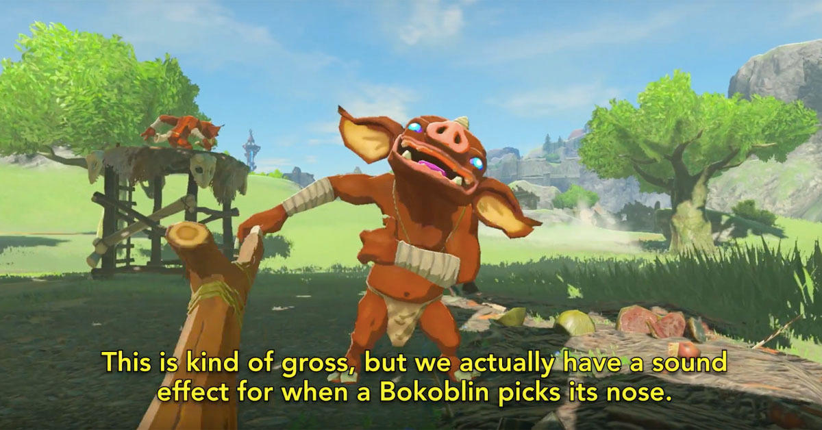 The new Zelda is so detailed you can hear Bokoblins mine for nose nuggets.