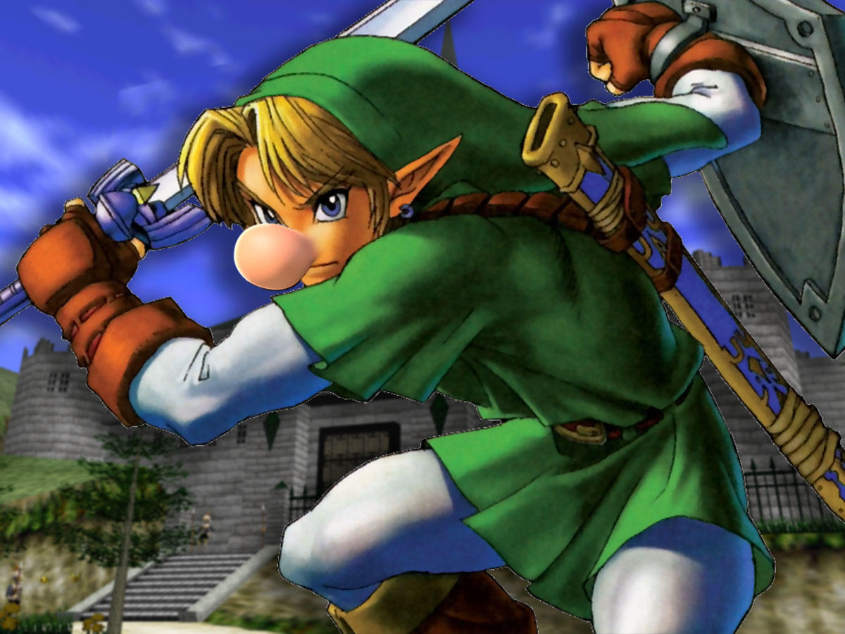 Link almost had a button nose in Ocarina of Time, just like Mario's.